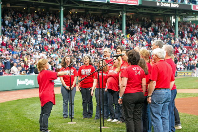 Performing the National Anthem at Fenway 2011
