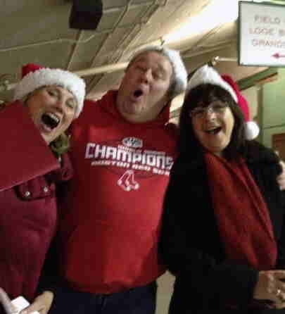Caroling at Christmas at Fenway